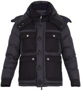 Moncler Rillieux contrast-panel down coat