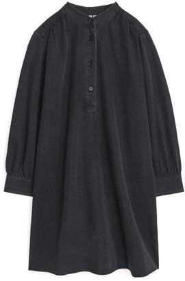 Arket Gathered Denim Dress