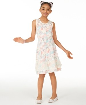 Epic Threads Big Girls Ditsy Printed Challis Dress, Created for Macy's