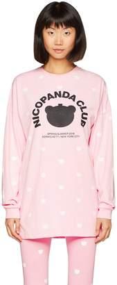 Nicopanda Women's Nicopanda Club L/S Top Loose Fit Polka Dot Crew Neck Long Sleeve Long Sleeve Top