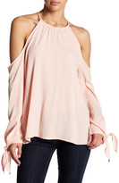 Do & Be Do + Be Tie Sleeve Cold Shoulder Blouse
