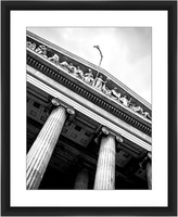 PTM Images Pantheon in Black & White Framed Giclee - 22 x 18