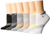 Lauren Ralph Lauren Vector Stripe Cushion Sole Heel Tab Low Cut 6-Pack Women's Low Cut Socks Shoes