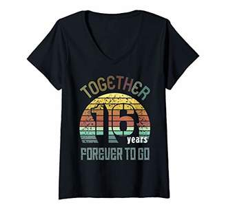 Womens 16th Years Wedding Anniversary Gifts For Couples Matching V-Neck T-Shirt