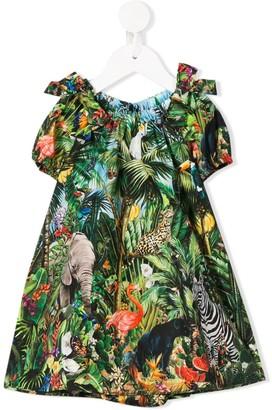 Dolce & Gabbana Tropical Print Dress