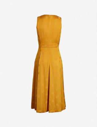 Ted Baker Innabel polka-dot satin-crepe midi dress