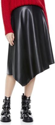 Alice + Olivia Jayla Vegan Leather Midi Skirt