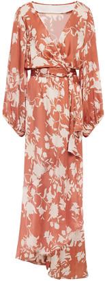 Johanna Ortiz Floral-print Georgette Maxi Wrap Dress
