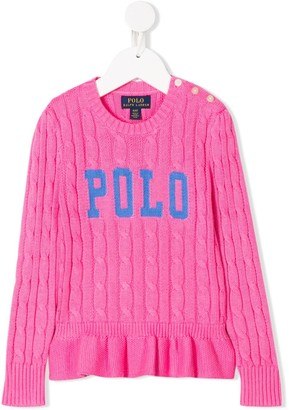 Ralph Lauren Kids Cable Knit Logo Jumper