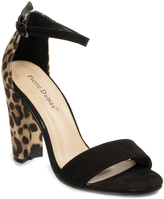 Pierre Dumas Black Leopard Debbie Sandal