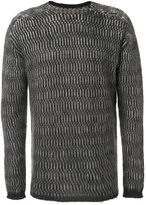 Rick Owens crew neck jumper - men - Polyamide/Mohair/Wool - One Size