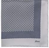 Brioni Men's Geometric-Print Silk Pocket Square
