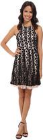 Jessica Simpson Black Floral Lace Overlay Dress
