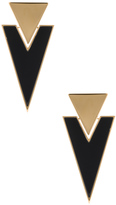 Saint Laurent Deco Triangle Clip Earrings