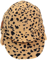 Mini Rodini Fleece Leopard Cap with Ear Flaps Beige