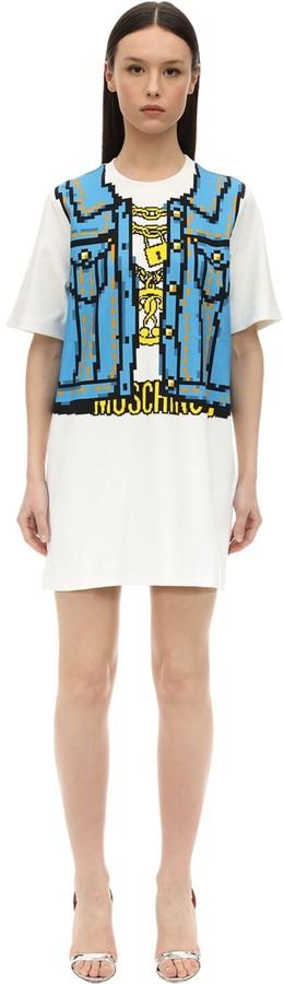 Moschino TROMPE L'OEIL COTTON INTERLOCK DRESS