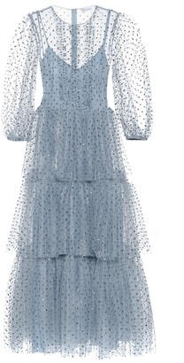 RED Valentino embellished polka-dot tulle gown