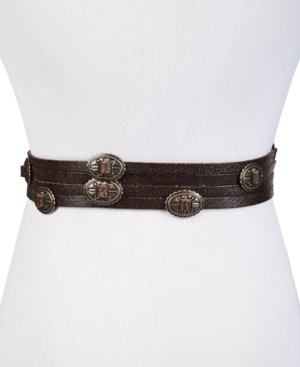 Frye Concho Swag Leather Waist Belt