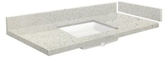 """Vision 61"""" 1 Bathroom Vanity Top Transolid Top Finish: Almond Delite, Faucet Mount: 8"""" Centers"""