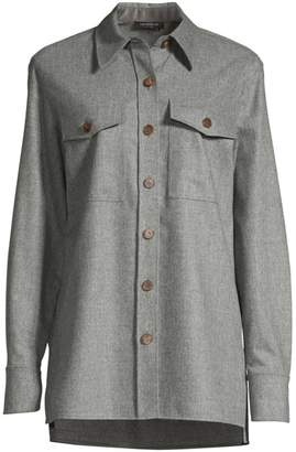 Lafayette 148 New York Greyson Flannel Shirt