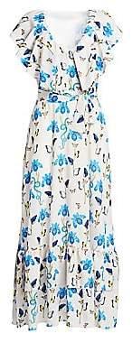 Borgo de Nor Women's Carlotta Tie-Waist Maxi Dress