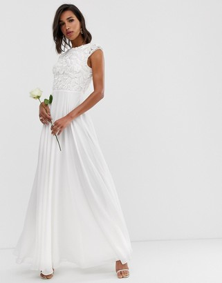 Asos Edition EDITION embellished bodice wedding dress-White