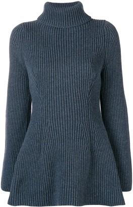 Nehera Roll Neck Ribbed Knit Sweater