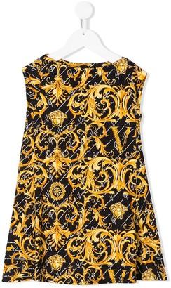 Versace Medusa baroque print flared dress