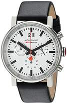 Mondaine Men's Quartz Watch with White Dial Analogue Display and Black Leather Strap A690.30304.11SBB