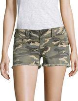 True Religion Kiera Camo Denim Shorts