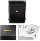 Neiman Marcus Playing Cards & Case Set, Black Harness