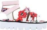 MSGM Women's Floral Lug Sole Sandal