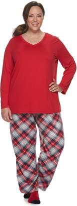 Croft & Barrow Plus Size 3-Piece Pajama Set
