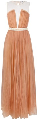 Elisabetta Franchi Sleeveless Tulle Maxi Dress
