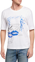 Givenchy Men's Techno-Print Loose T-Shirt