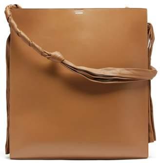 Jil Sander Tangle Large Leather Shoulder Bag - Womens - Tan