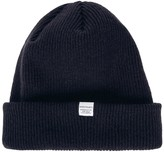 Norse Projects Navy Ribbed Wool Beanie