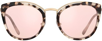Prada Cat Eye Mirror Sunglasses