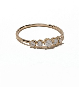 Zoë Chicco 14kt Yellow Gold Five Diamond Ring