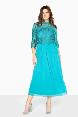 Little Mistress Jade Crochet Dress