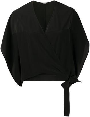 Aspesi Silk Wrap-Front Blouse