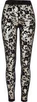 River Island Womens Black floral lace leggings