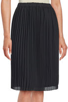 Lord & Taylor Pleated Crepe Skirt