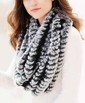 Donna Salyers' Fabulous Faux Furs Donna Salyers' Fabulous-Faux Furs Women's Cold Weather Scarves Black - Black Faux Fur Infinity Scarf - Women