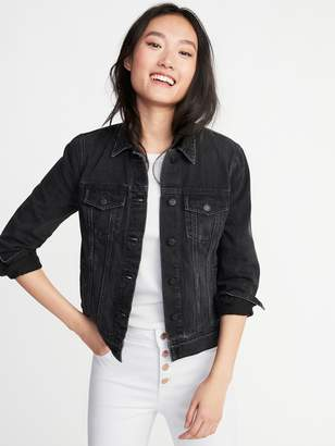 Old Navy Distressed Black Jean Jacket for Women