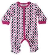 Coccoli Foulard & Tweed Size 9M Footie in Pink