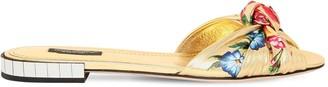 Dolce & Gabbana 10mm Printed Metallic Leather Sandals