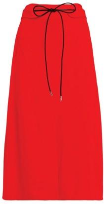 Victoria Beckham Tie-Waist Midi Skirt