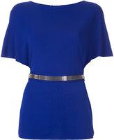 Lanvin mesh belted blouse