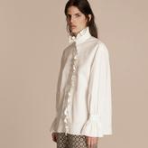 Burberry Cotton Shirt with Ruffles
